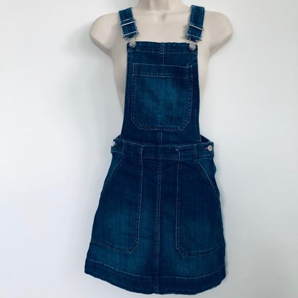 H&M Dresses & Skirts - H & M Jean Overall Mini Skirt Size 6